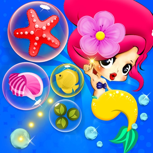 Bubble Shooter Mermaid - Bubble Game for Kids iOS App
