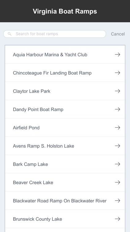 Virginia Boat Ramps & Fishing Ramps