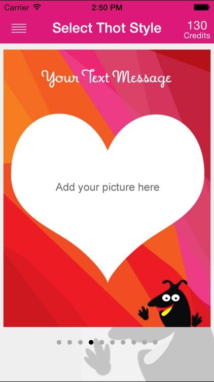 ThotOfU: Send friends picture greetings thru Social Network