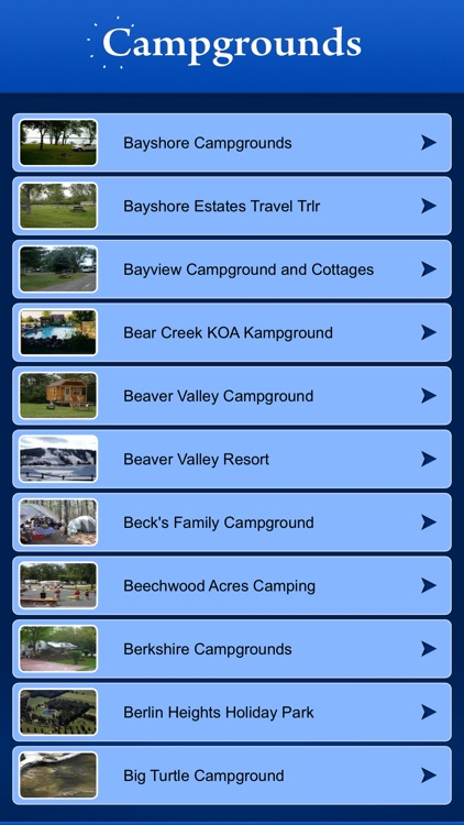 Ohio Campgrounds and RV Parks screenshot-1