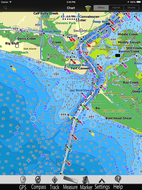 South Carolina GPS Nautical charts pro screenshot-3