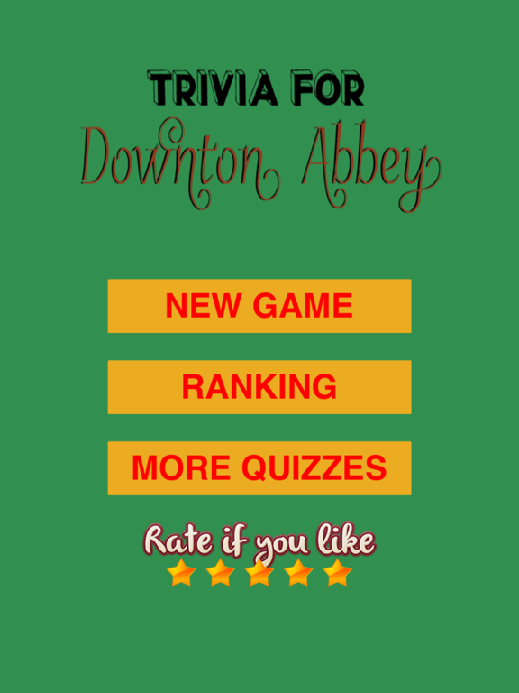 Trivia for Downton Abbey fans quiz-ipad-0
