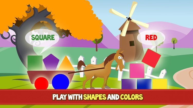 Farm Adventure for Kids - Educational game with animals and letters for children, toddlers, babies, boys and girls