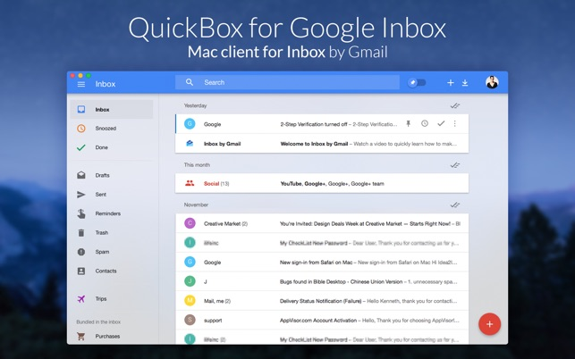 QuickBox for Google Inbox