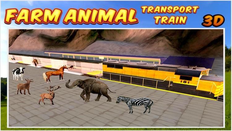 Farm Animal Transport Train 3d screenshot-4