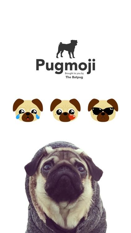 Pugmoji sticker keyboard by The BatPug