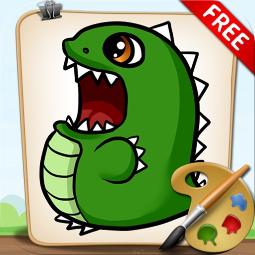 Coloring Book Dinosaurs Free Version