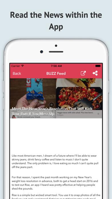 RSS-Free Screenshot on iOS