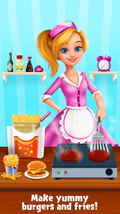 Burgers & Shakes - Fast Food Maker screenshot-1