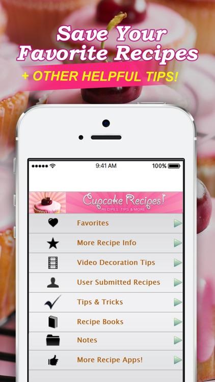 Cupcake Recipes! - Recipes, Tips & More screenshot-3
