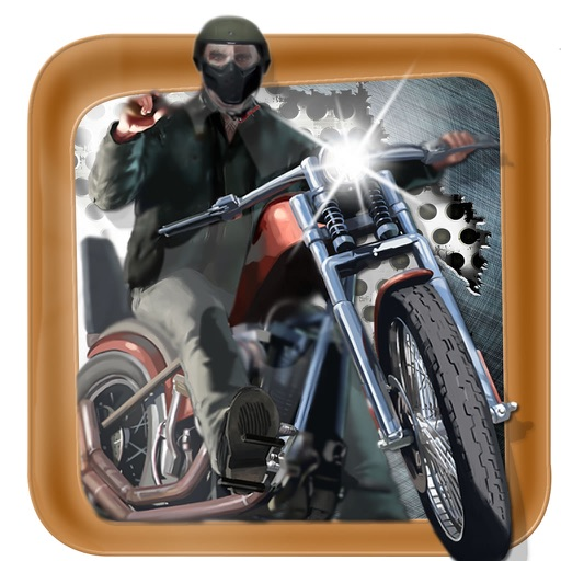 Motorbike Without Fear To Mountain - Game Traffic Steel icon