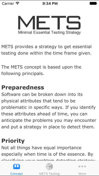 METS Testing Strategy screenshot-2