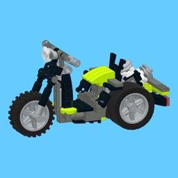 3-Wheel Moto for LEGO Creator 31018 x 2 Sets - Building Instructions
