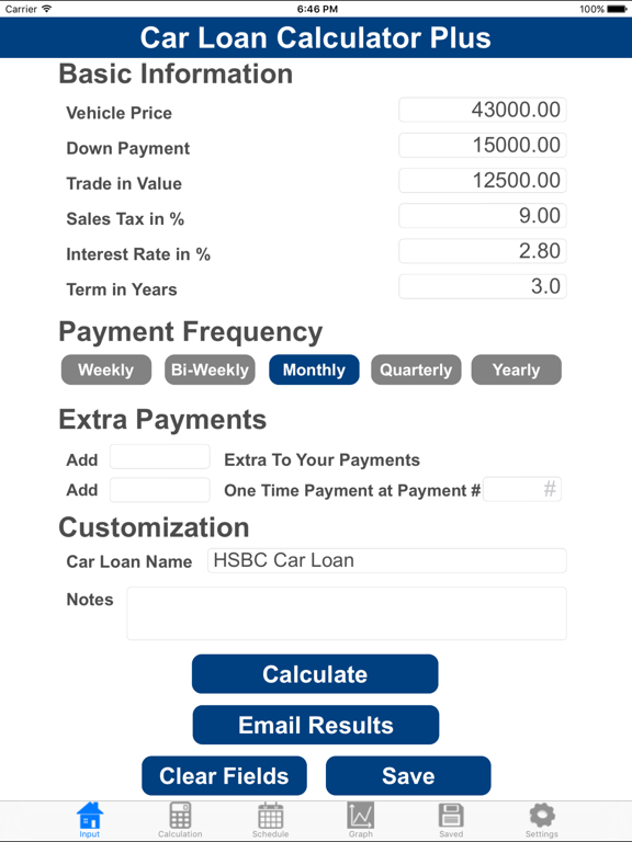 Car Loan Calculator Plus App Price Drops