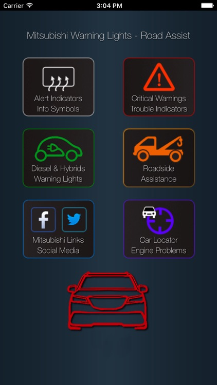 App for Mitsubishi Warning Lights & Car Problems