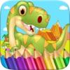 Dinosaurio Color Book Dibujo pintar rasguño Juego para colorear para los niños