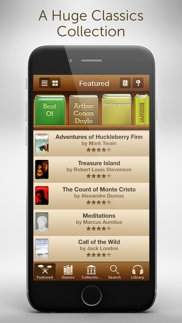Audiobooks - 2,947 Classics For Free. The Ultimate Audiobook Library Screenshot