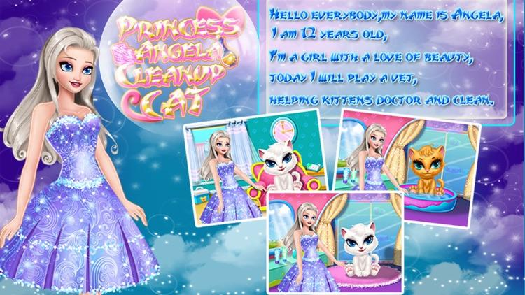 Princess Angela Clean up Cat