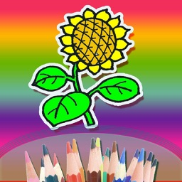 The Best Colouring Book For Kids - Making the Flower Colorful hd