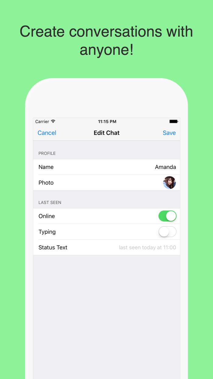 WhatsPrank Pro - Create fake chats for WhatsApp Screenshot