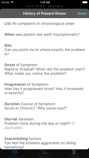 Clinicals History Symptoms Physical Examination Guide Im App Store