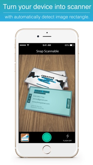 Snap scannable biz card ocr scanner machine to fax file make iphone ipad reheart Gallery