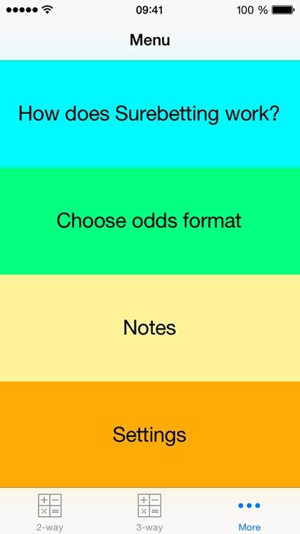 Surebet Calculator Pro screenshot-3