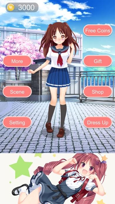 学校のかわいい女の子 - アニメ風な少女の着せ替えゲームスクリーンショット4