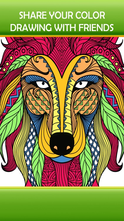 Animal Art Zen Designs - Relaxing Coloring Book for Adults screenshot-3