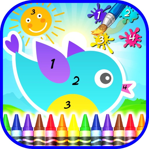 Coloring By Numbers For Kids by Jaime Restrepo