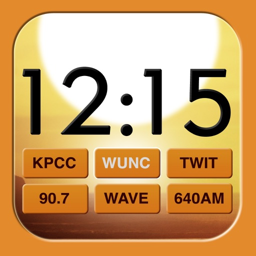 Beautiful Clock Radio Alarm with Weather