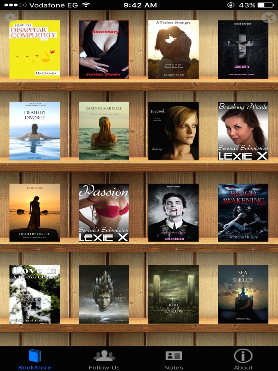 Romantic BookStore for iPad