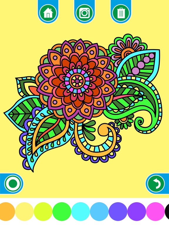 Screenshot 1 For Coloring Books Adults