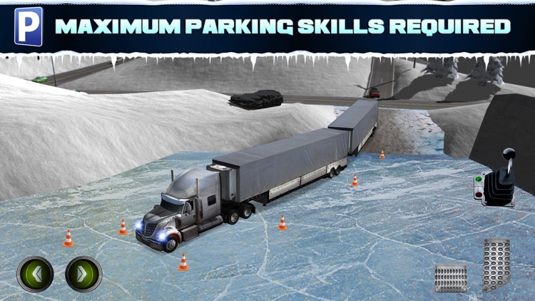 Ice Road Trucker Parking Simulator 2 a Real Monster Truck Car Park Racing Game screenshot-4