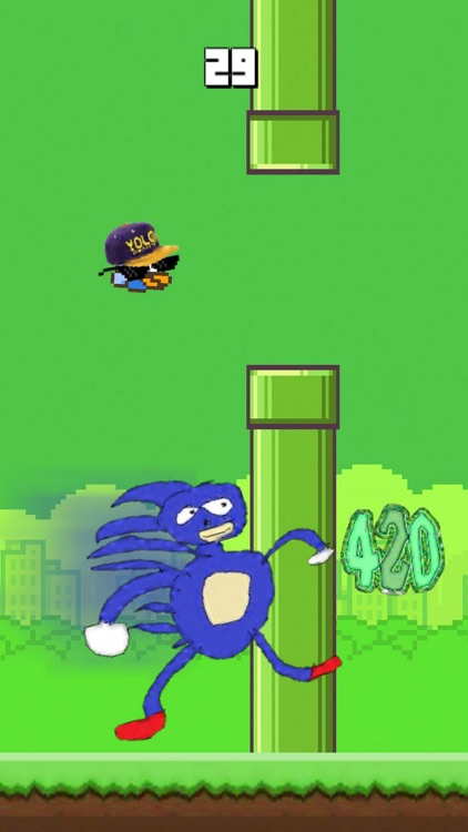 Bird 420 - MLG Flappy edition screenshot-3
