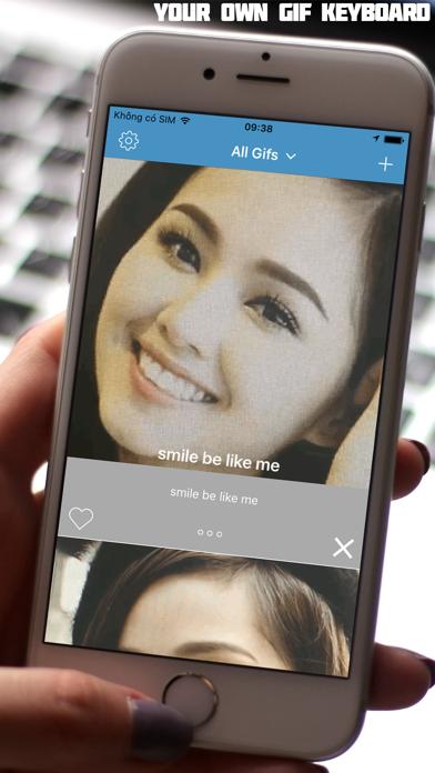 iMoji - your own Gif Emotional Keyboard screenshot one