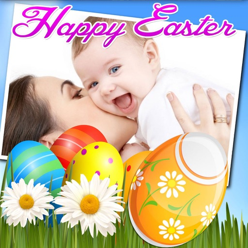 Happy Easter Photo Frames and Stickers