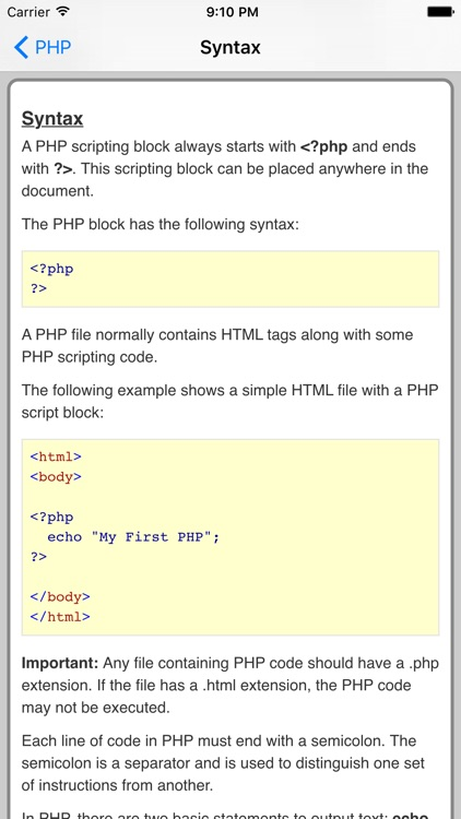 PHP Pro Quick Guide screenshot-2