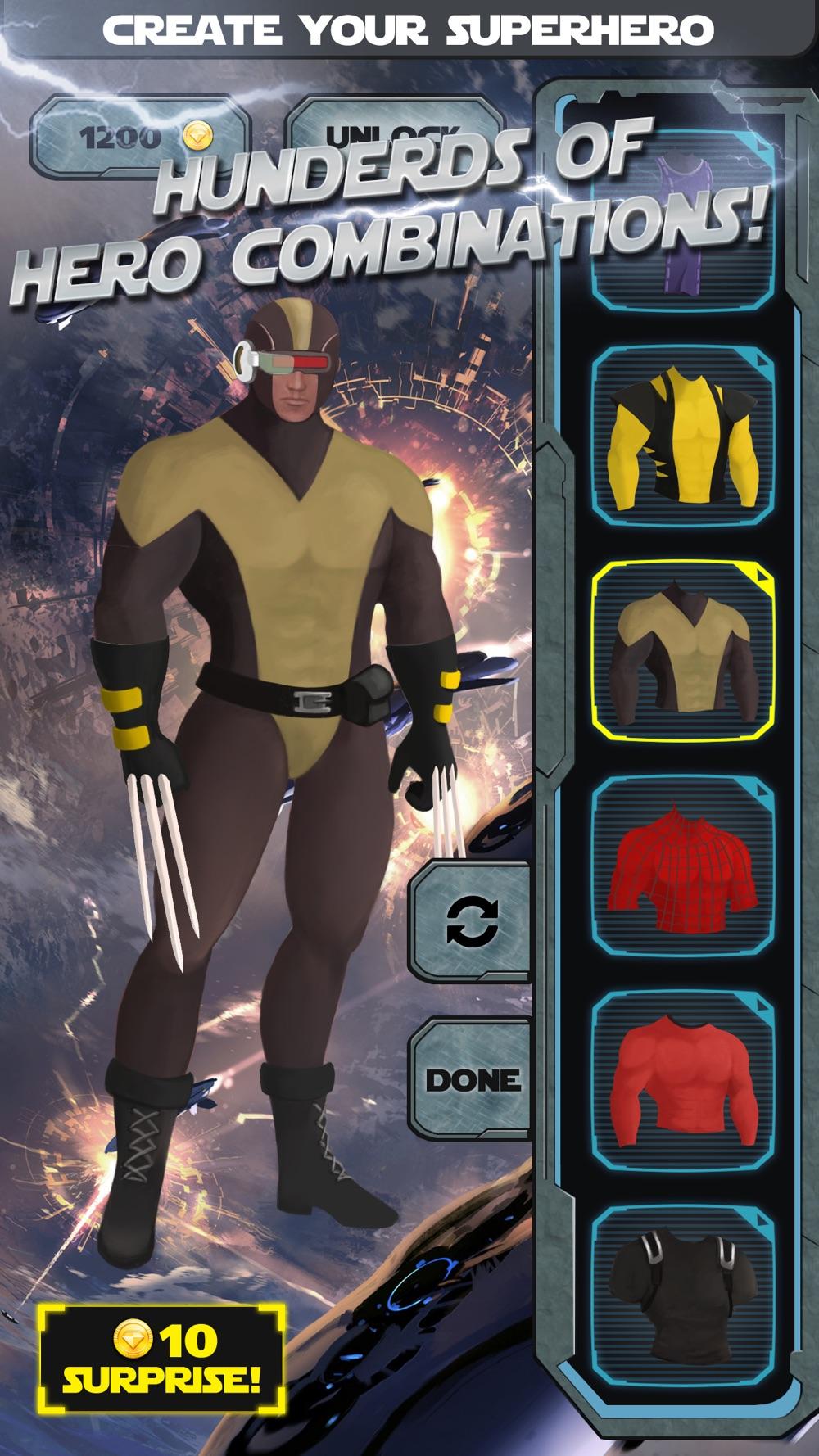 Superhero Creator - Super Hero Character Costume Maker & Dress Up Game for Man FREE hack tool
