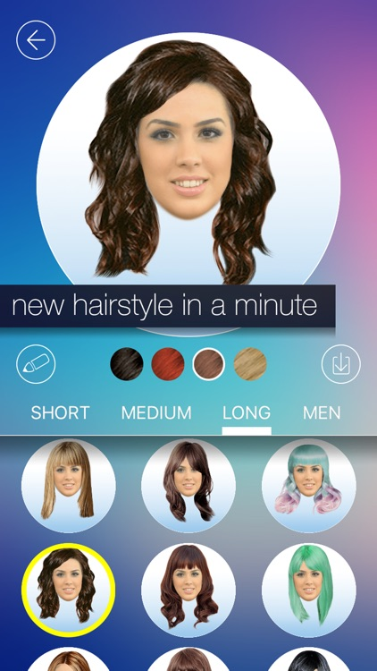 Hair MakeOver - new hairstyle and haircut in a minute screenshot-0