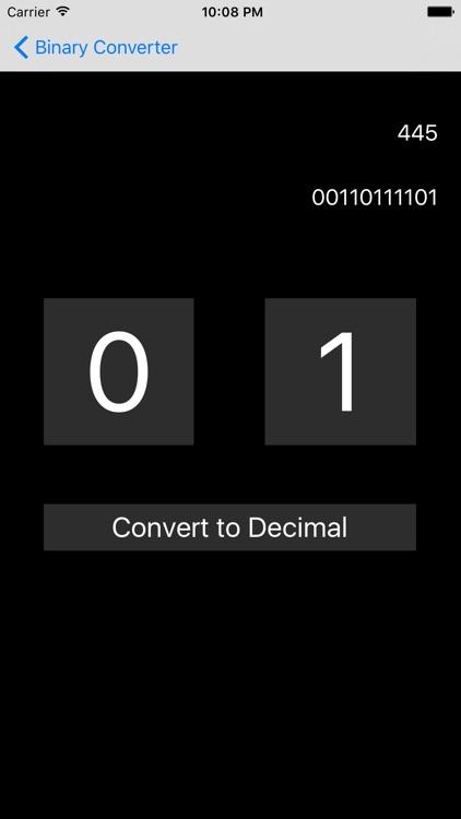 Binary and Decimal Converter
