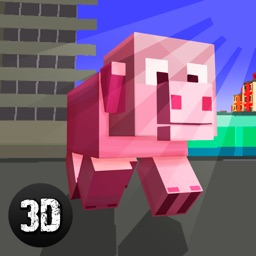 Blockhead Pig City Rampage 3D Full