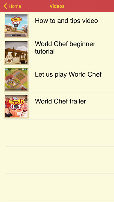 点击获取Guide for World Chef - Tips, videos and strategy