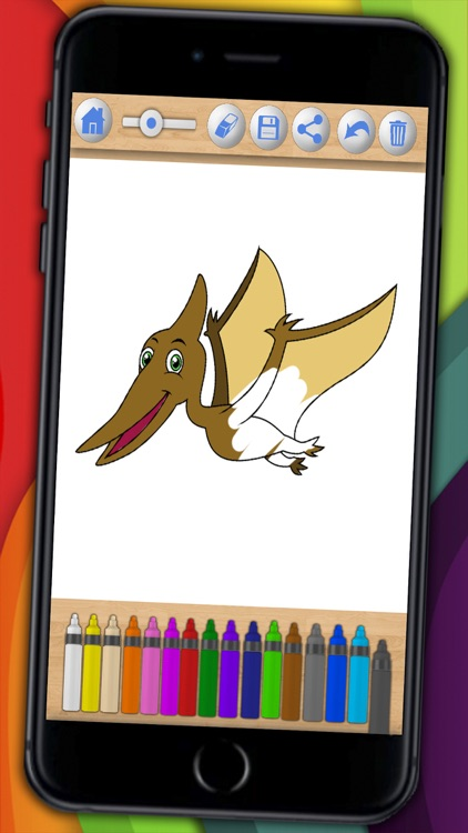 Dinosaurs Coloring book  & Paint the Jurassic - Premium screenshot-3