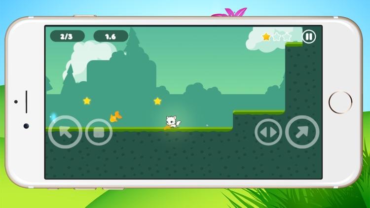 Little kitten adventure - Greedy white cat running