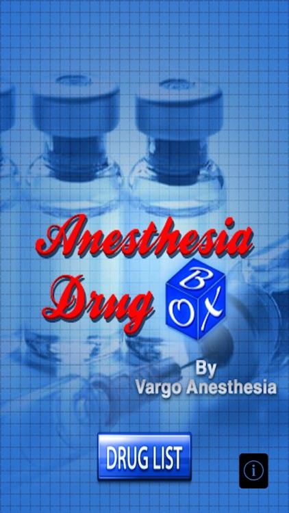 Anesthesia Drug Box
