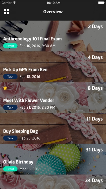 To:Day - Event planner, to-do list, date countdown & task manager screenshot-3