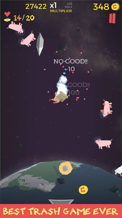 Waste in Space - Endless Arcade Shooter screenshot-4
