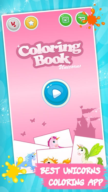 Unicorn coloring book for kids screenshot-3
