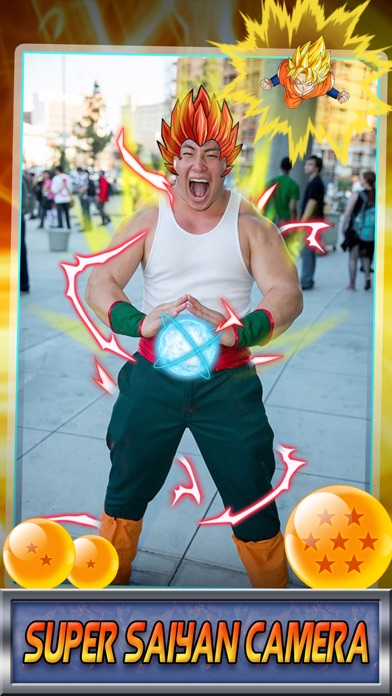 Super Saiyan Sticker Camera - Cartoon & Manga Photo Booth